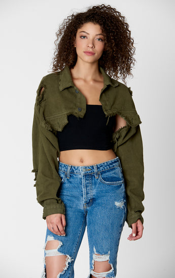 OLIVE JAQUES DENIM JACKET