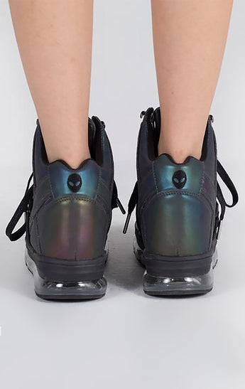 YRU QOZMO REFLECTIVE AIR HIGH SNEAKERS