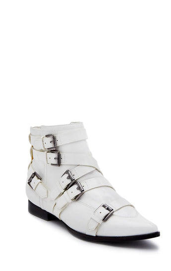 Carmar Denim: MATISSE AMSTERDAM PATENT LEATHER ANKLE BOOT - SHOES
