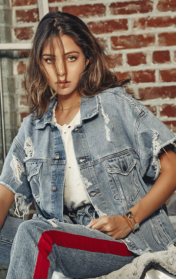 KURA AUDREY OVERSIZED DENIM JACKET