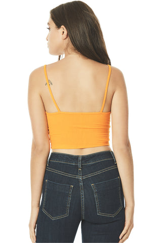 BRA NECK CROPPED STRAPPY TANK