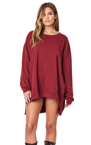 OVERSIZED HI-LOW PULLOVER