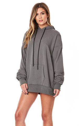 EXAGGERATED SLEEVE V SEAM HOODIE