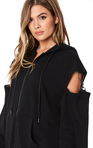 OVERSIZED HOODIE WITH ARM CUTOUTS