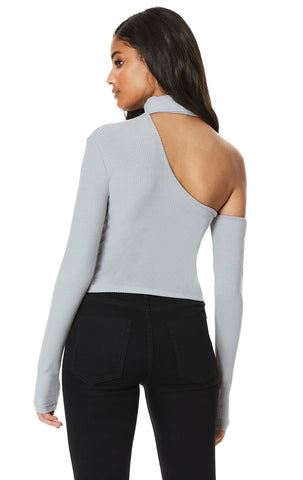 EXTREME CUT OUT SHOULDER LONG SLEEVE TURTLENECK