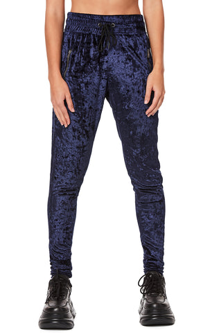 CRUSHED VELVET DRAWSTRING JOGGER