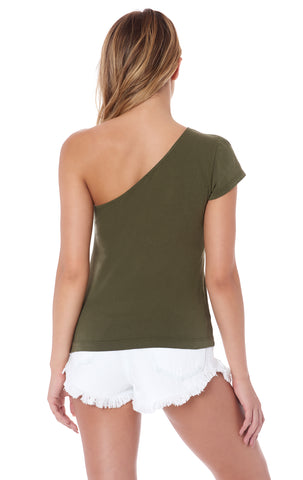 ONE SHOULDER T SHIRT