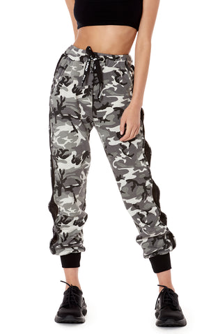 CAMO NETTING SIDE SWEATPANT