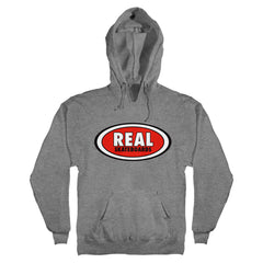 Real OG Oval Hooded Pullover Men's Sweatshirt - Gun Metal Heather