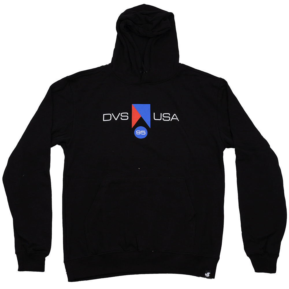 DVS Competition Pullover Men's Sweatshirt - Black/White 001