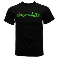 Chocolate Chunk Script - Black/Green - Men's T-Shirt