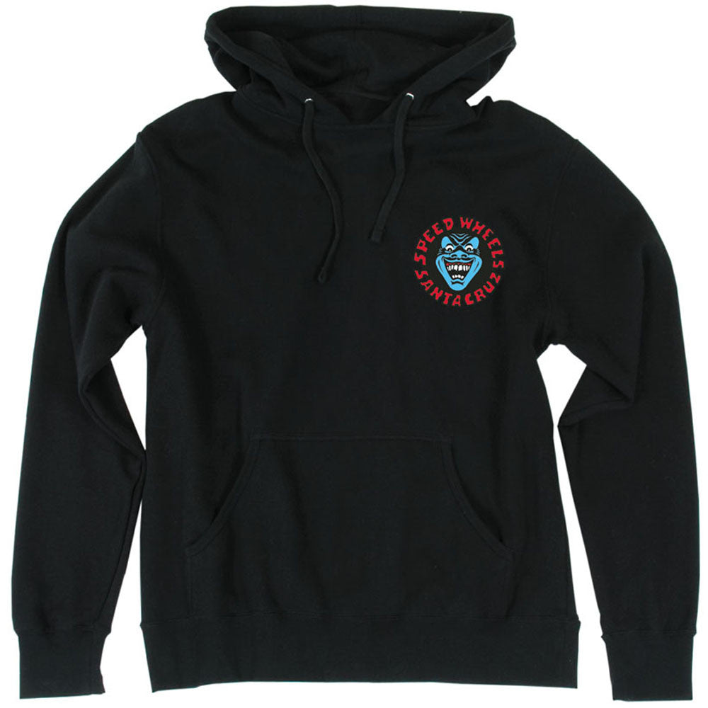 Santa Cruz Screaming Hand Pullover Hooded L/S Mens Sweatshirt - Black