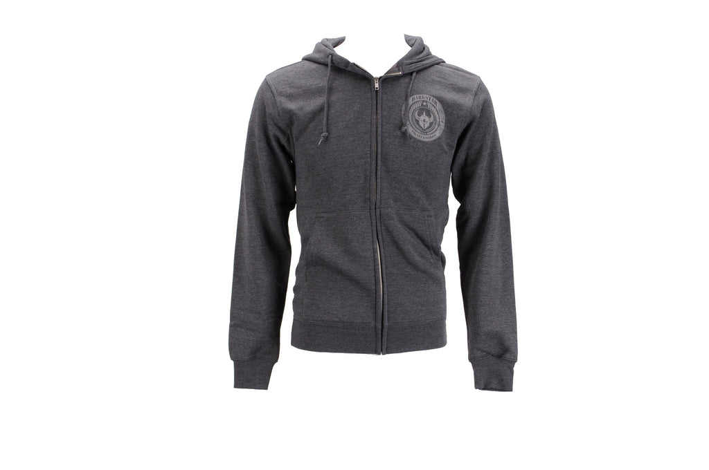 Darkstar Revolt Zip Up Hoodie - Charcoal Heather - Sweatshirt