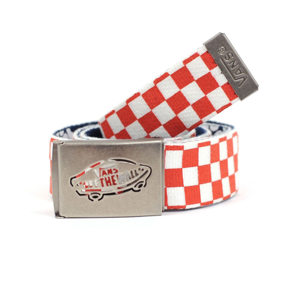 Vans Reverse Web - Red Checkered/Navy Aloha - Men's Belt