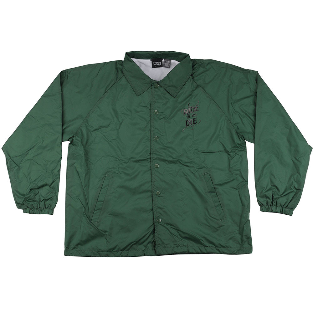 Creature Ride Til You Die Coach Windbreaker Men's Jacket - Hunter