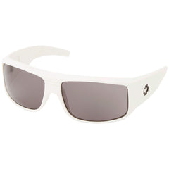 Spy Clash Sunglasses - White Frame - Grey Lens