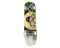 World Industries Manscape Peachefuzz Complete Skateboard - 7.75 - Green/Grey
