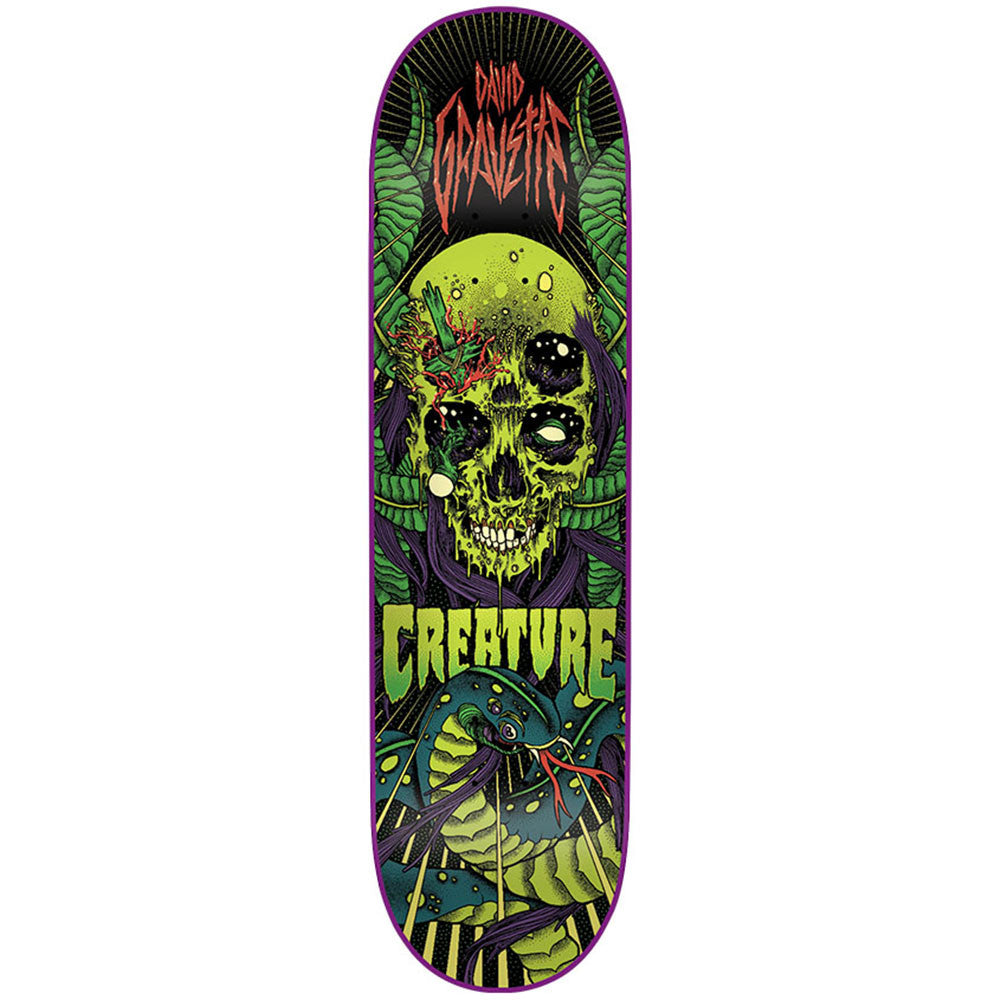 Creature The Serpent Skateboard Deck - Black/Green - 8.2in x 31.9in