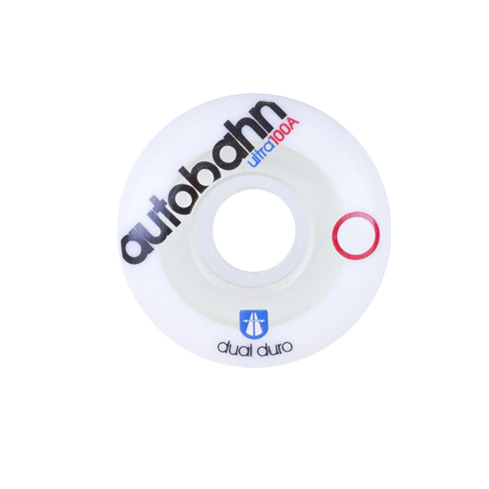 Autobahn Dual Duro Ultra - White/Clear - 54mm 100a - Skateboard Wheels (Set of 4)