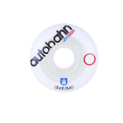 Autobahn Dual Duro Ultra - White/Clear - 51mm 100a - Skateboard Wheels (Set of 4)
