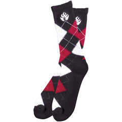 Black Label Argyle - Black/White - 2 Pack - Men's Socks (2 Pairs)