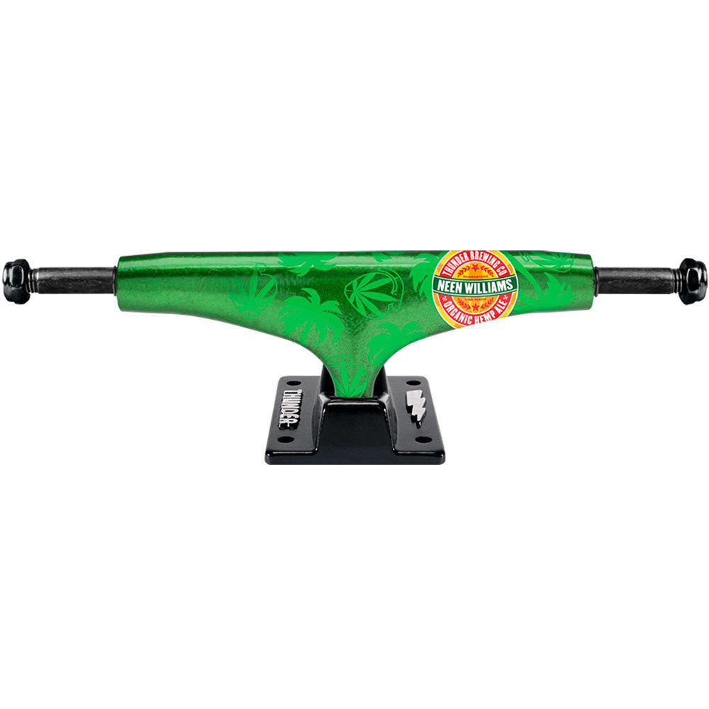 Thunder Neen Thunder Brewing Company Lights Low Skateboard Trucks - 145mm - Green/Black (Set of 2)