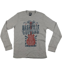 Lucky Nashville Guitar Thermal Men's Sweatshirt - Grey