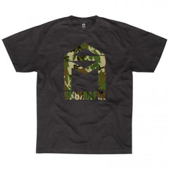 Sk8mafia House Logo Camo - Black - Men's T-Shirt