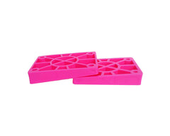 Tracker Pink Wedge Skateboard Riser - Pink (2 PC)