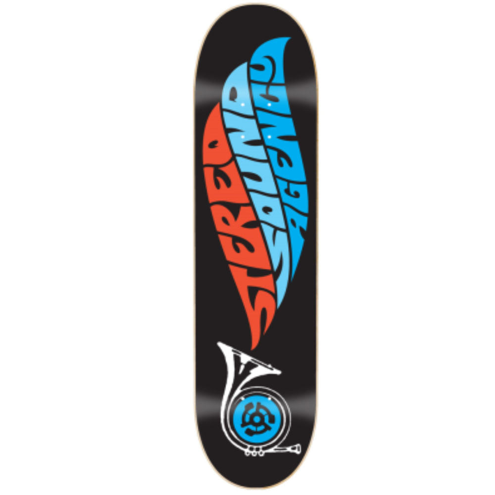 Stereo Sound Agency Skateboard Deck - Black - 8.0
