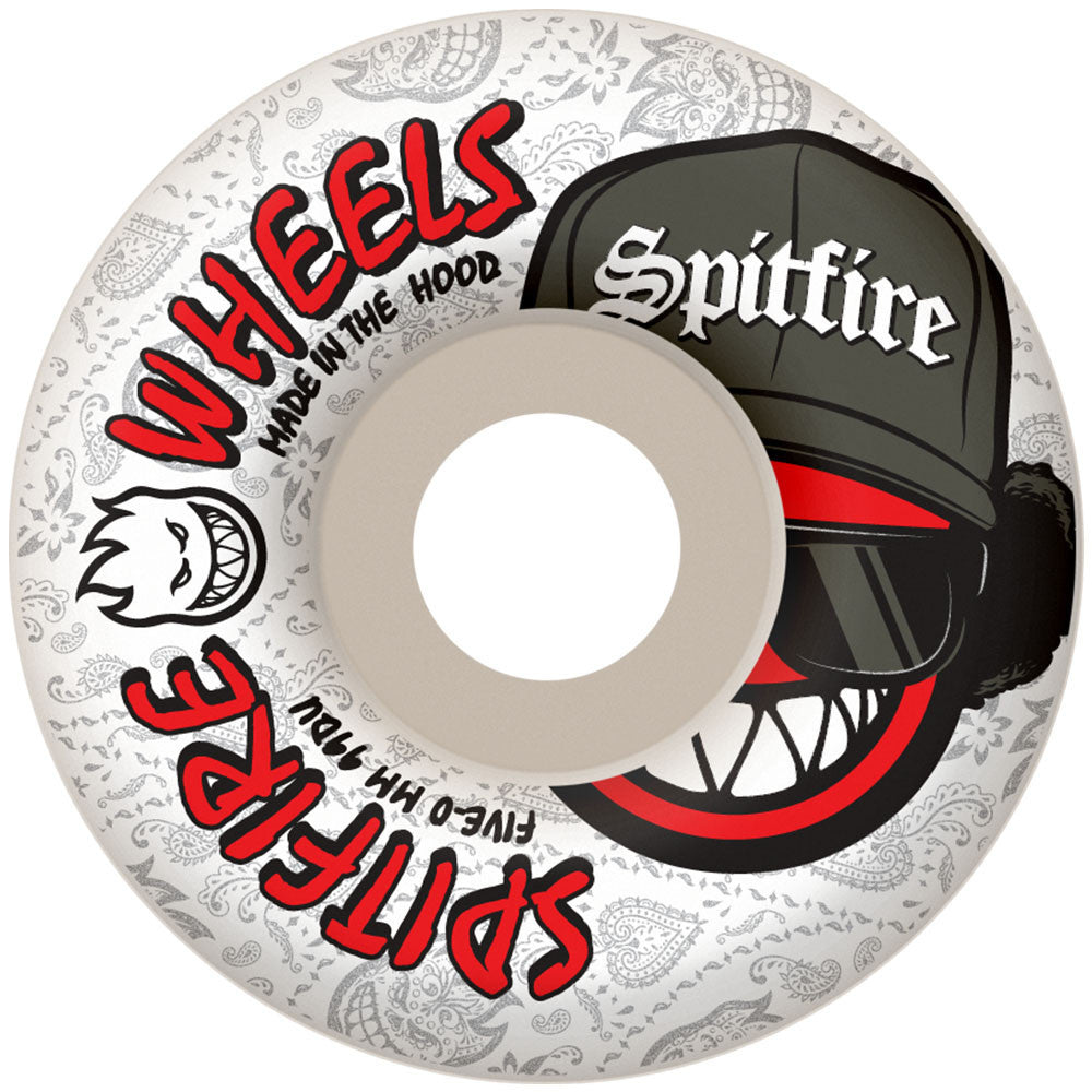 Spitfire Streetz Skateboard Wheels - 54mm 99a - White (Set of 4)