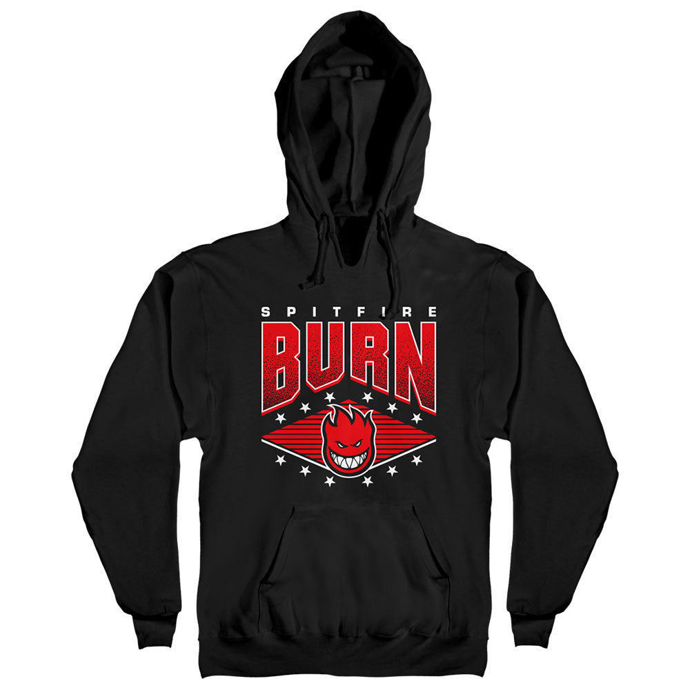 Spitfire HD Champion Burn Hooded Pullover Men's Sweatshirt - Black