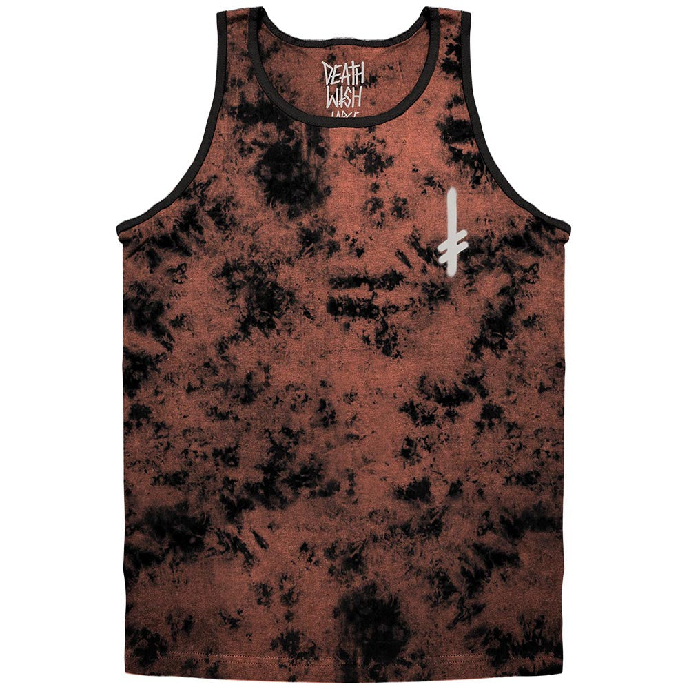 Deathwish Gang Logo Men's Tank Top - Marble Coral/Black