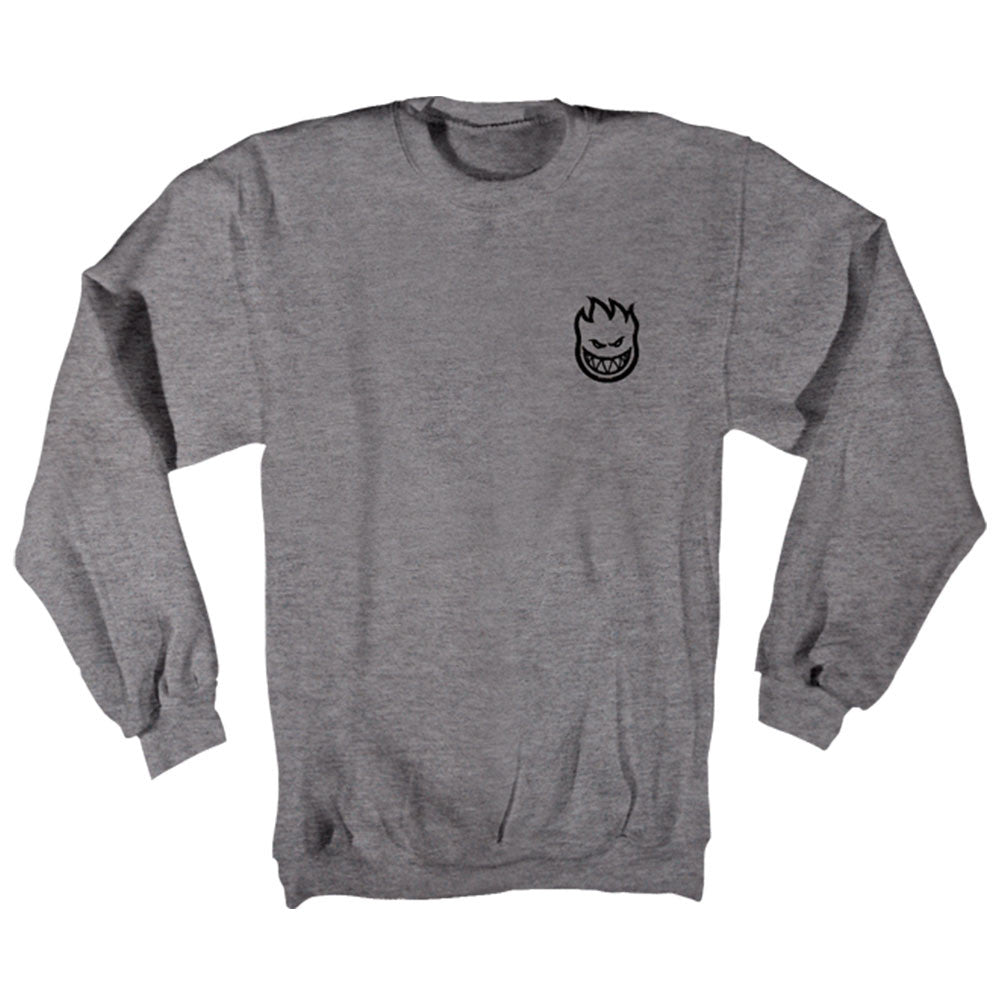 Spitfire Standard Issue Bighead Crewneck Men's Sweatshirt - Gun Metal