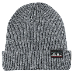 Real Bar Logo Cuff Mens Beanie - Grey
