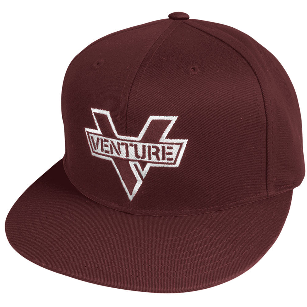 Venture Adjustable Mainstay Snapback Mens Hat - Maroon