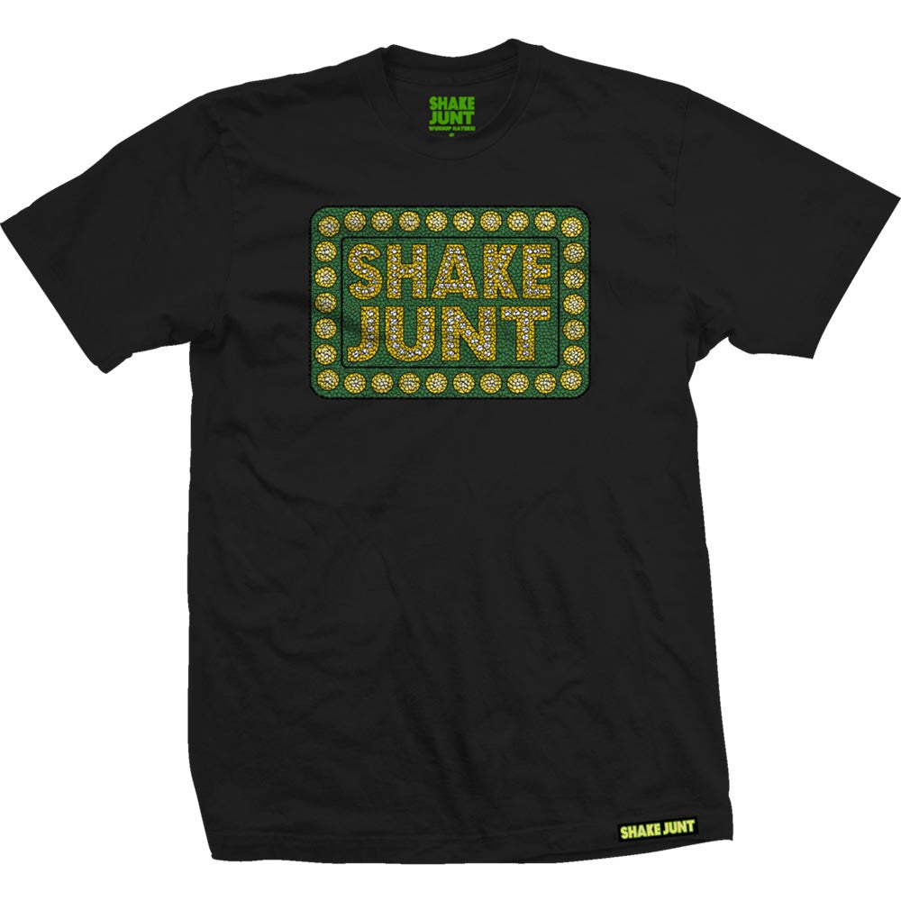 Shake Junt Box Logo Crackle Men's T-Shirt - Black