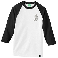 Shake Junt SJ Classic Baseball Men's T-Shirt - White/Black