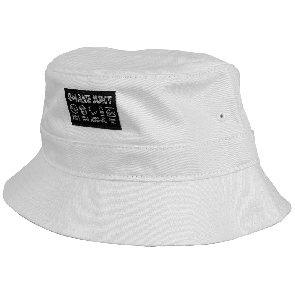 Shake Junt Code Junt Bucket Men's Hat - White