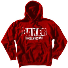 Baker Brand Logo P/O Hoodie Men's Sweatshirt - Red/White