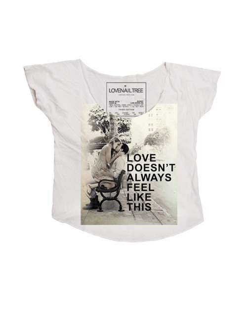 Love Nail Tree Love Doesn't Always Feel Like This Crop Tee - Natural - Womens Shirt
