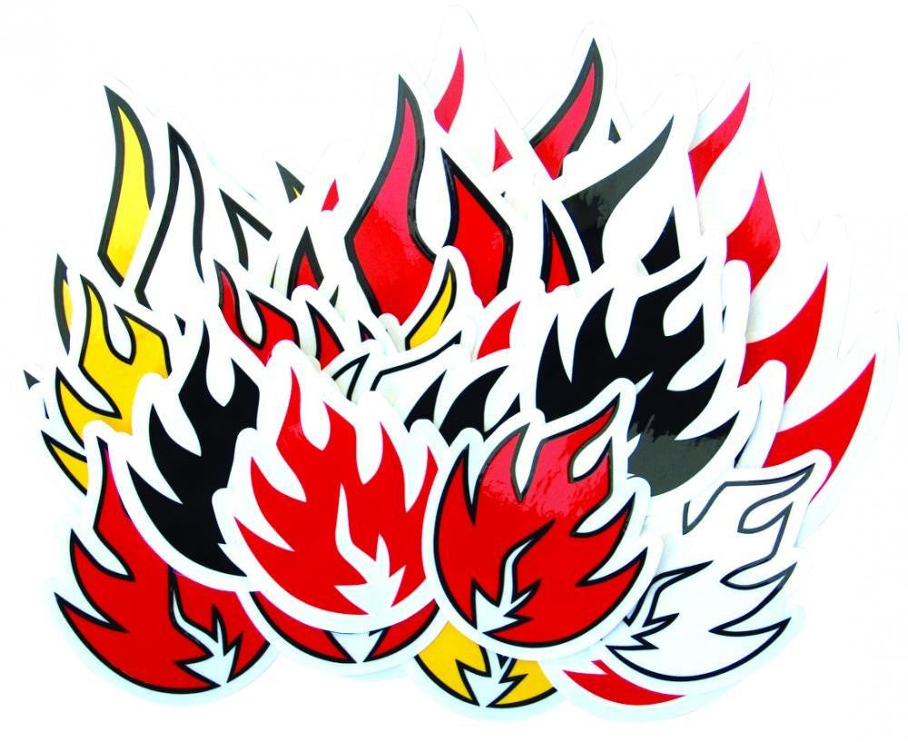 Black Label Assorted Flame Sticker - 3in