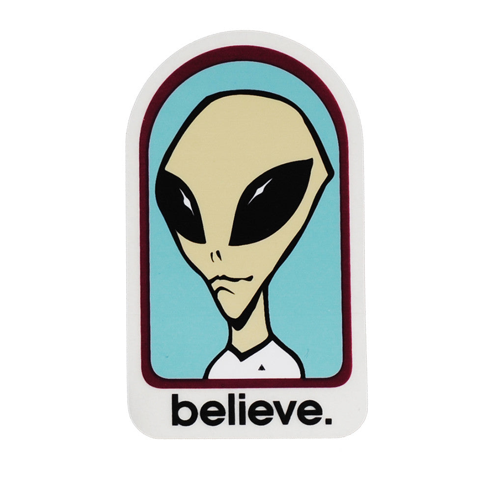 Alien Workshop Believe Sticker - White