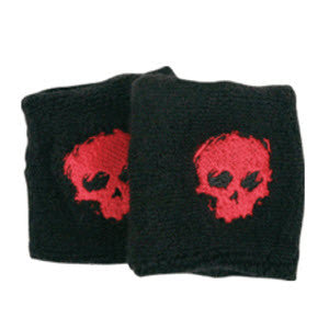 Zero Sweat Bands Blood Skull - Black/Red