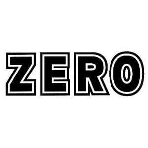 Zero Bold Sticker - Black