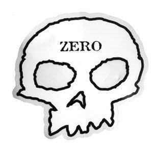 Zero Skull Sticker - White