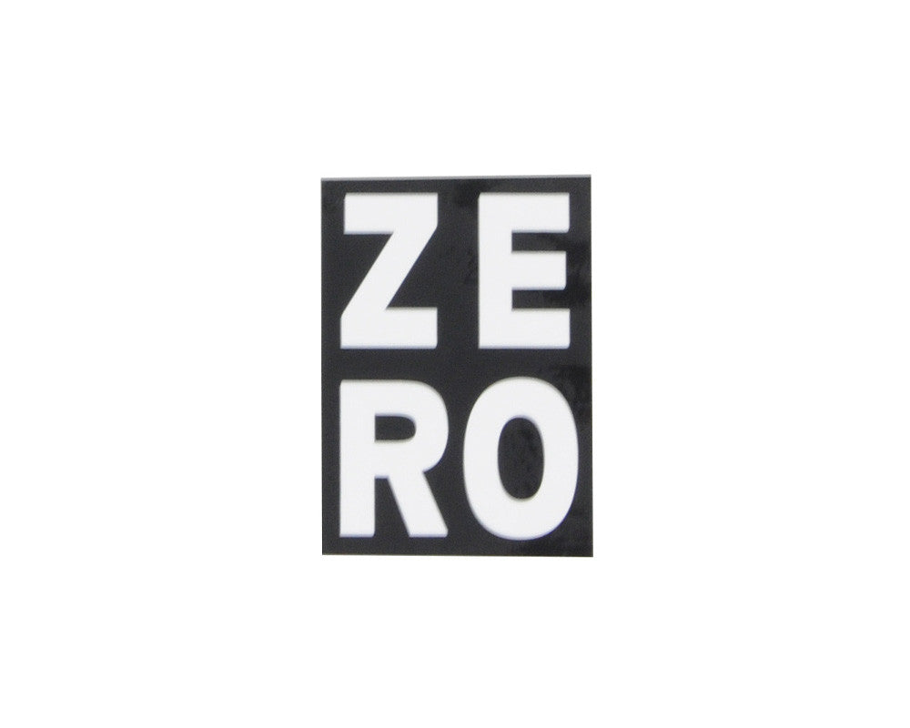 Zero Numero Sticker - Black/White