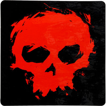 Zero Blood Skull Ramp Sticker - Black/Red - Sticker