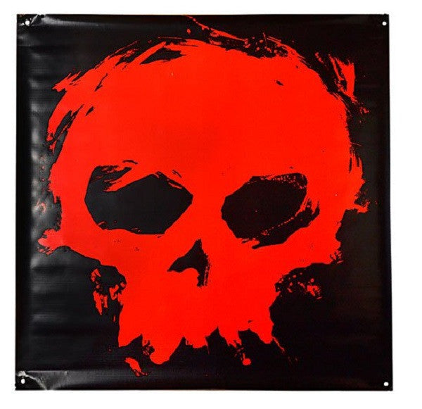 Zero Blood Skull Vinyl - Black/Red - 36in x 36in - Skate Banner