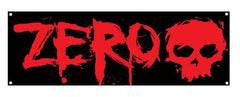 Zero Blood Vinyl - Black/Red - 24in x 60in - Skate Banner